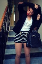 Forever 21 shorts - Terranova blazer - no brand bag - Tendenze blouse