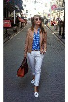 Bershka jacket - H&M shirt - Orsay bag - Zara pants
