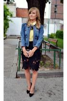 Sheinsidecom skirt - Mango jacket - Stradivarius shirt - diferitstilro bag