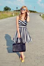 asos dress - Bershka bag - poema heels