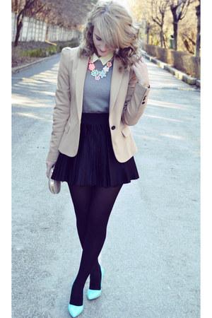 Missguided shoes - S Oliver sweater - Zara blazer - meli melo bag