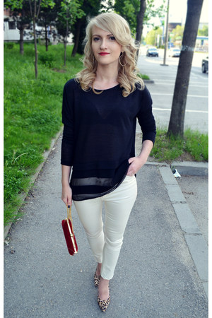 meli melo bag - Stradivarius pants - new look heels - Zara blouse