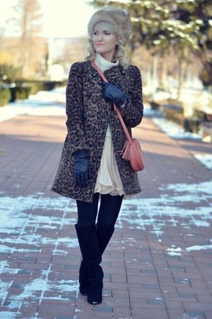 Zara coat - Sheinside dress - Vero Moda sweater