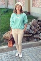 H&M sweater - Orsay bag - Pull & Bear pants - Stonecreek flats