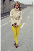 Zara sweater - Orsay bag - Zara pants - depurtatro heels