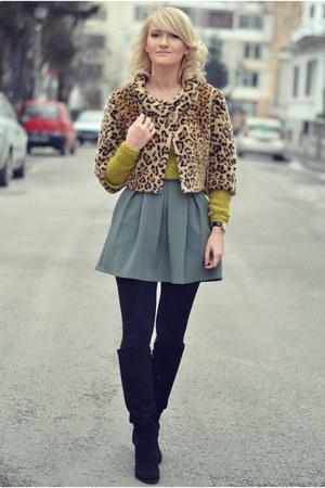 BSB coat - Guess sweater - andreea design skirt