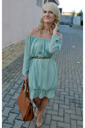 Sheinside dress - H&M bag