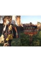 italian wool new look cape - vintage blouse