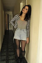 wanda ameiro jacket - American Apparel shirt - vintage shorts - Cathy Jean boots