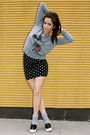 Gray-urban-outfitters-top-forever-21-skirt-bgd-shoes