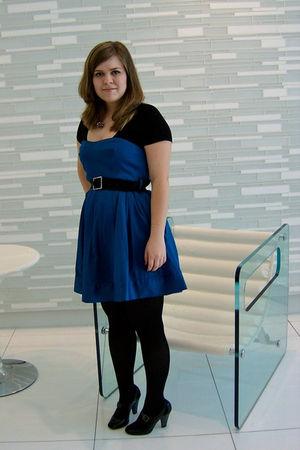 blue Forever 21 dress - black Target tights - black seychelles shoes - black Ram
