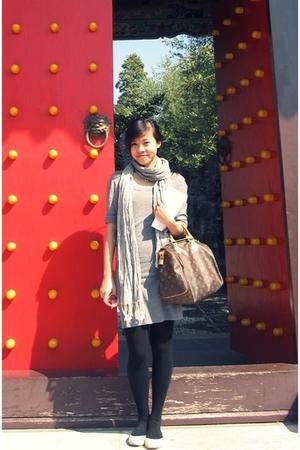 H&M dress - LV purse - H&M scarf - leggings - H&M shoes