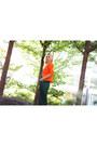 Orange-italy-nara-camicie-blouse-dark-green-wide-corsage-warehouse-jumper