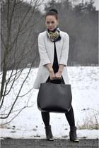 H&M dress - Hermes scarf - Zara bag - new look earrings