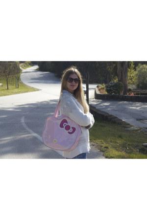 hello kitty bag - New Yorker shirt - H&M jumper