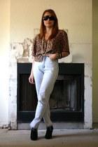 Vantage Point Vintage jeans - leopard print Vantage Point Vintage blouse