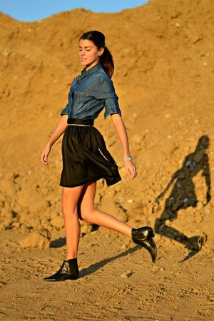 asos skirt - denim Bershka shirt