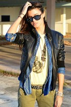 leather Convoy jacket - jean Hydrogen shirt - Bershka t-shirt - Valentino belt
