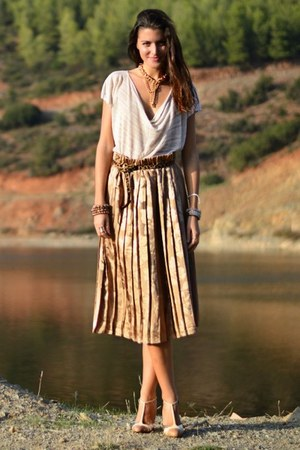 Greek Market skirt - Toi & Moi blouse - animal print Steve Madden belt