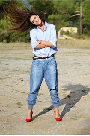 baggy Zara jeans - pointed Zara heels