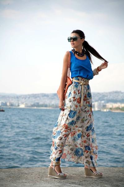 blue as a top Bershka dress - as a skirt sandro ferrone dress