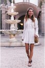 White-lace-dress-chicwish-dress-bronze-ata-bag-bag