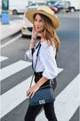 Gold-boater-hat-h-m-hat-white-top-black-leather-sandals-sandals
