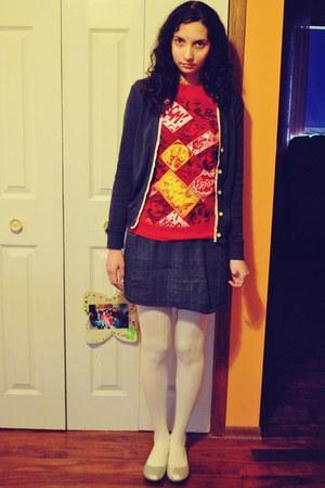 by grandma handmade skirt - Yesstyle cardigan