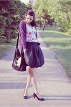 Payless shoes - garage shirt - angela skirt - Rickys cardigan
