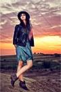 River-island-boots-vintage-dress-vintage-hat-studded-miss-selfridge-jacket