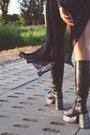 Vintage-hat-platform-boots-beaded-frank-usher-jacket-levis-shorts
