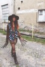 Vintage-boots-fringe-evil-twin-dress-catarzi-hat-house-of-holland-tights