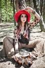 Patchwork-jeffrey-campbell-shoes-red-asos-hat-black-vintage-cape
