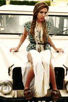 Xutz shoes - Zara belt - H&M scarf - vintage pants - vintage blouse