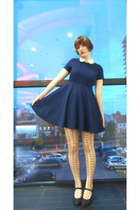 H&M dress - H&M tights - Etsy accessories - pumps