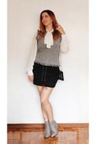 zaful boots - shein blouse - AmiClubWear skirt