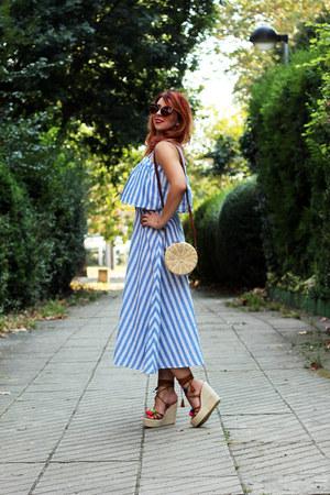 shein dress - ToSave bag - lightinthebox wedges