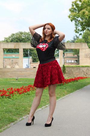 shein shirt - Bata heels