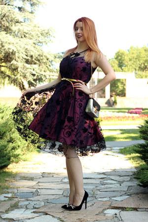 GAMISS dress - GAMISS bag - black AmiClubWear heels