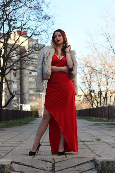 Femmeluxefinery dress - dresslily earrings - Bata heels