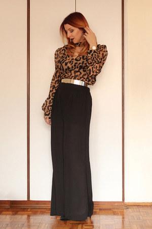 shein blouse - shein pants - Daniel Wellington watch - Bata heels
