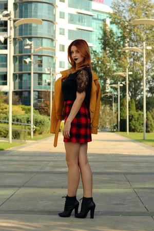 Metisu jacket - shein shirt - zaful skirt - Kitten heels