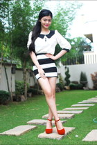 top - skirt - wedges