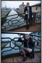 Zara coat - American Apparel dress - H&M tights - Zara shoes - Urban Outfitters 