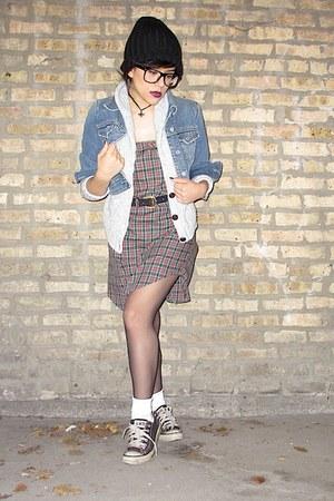 denim jacket Gap jacket - combat boots Target boots - wool beanie H&M hat