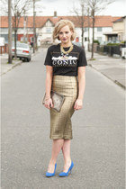 River Island skirt - Primark t-shirt - Dotty Holly necklace