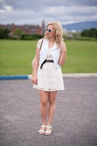 white Dorothy Perkins shoes - white Primark dress