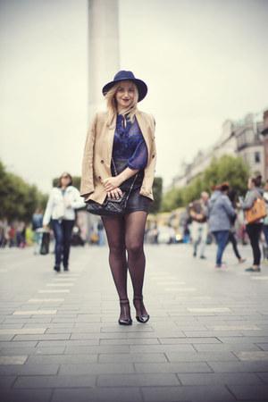 John Rocha shirt - Stradivarius shoes - Primark hat - Zara blazer - Boohoo skirt
