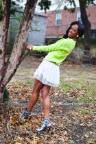 Forever 21 sweater - BCBG shoes - Charlotte Russe skirt - Aldo earrings