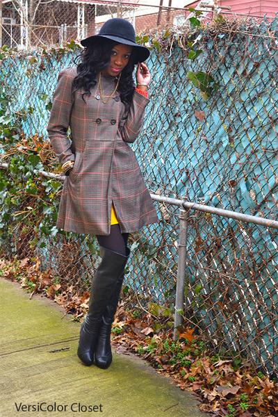 Charlotte Russe boots - H&M coat